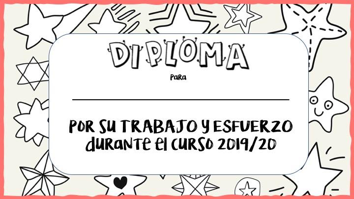 Diplomas gratuitos de fin de curso por el trabajo y esfuerzo realizados durante todo el año.