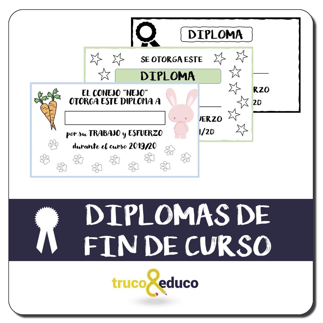 Diplomas gratuitos de fin de curso