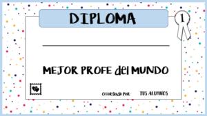 Diplomas para profesores por el fin de curso